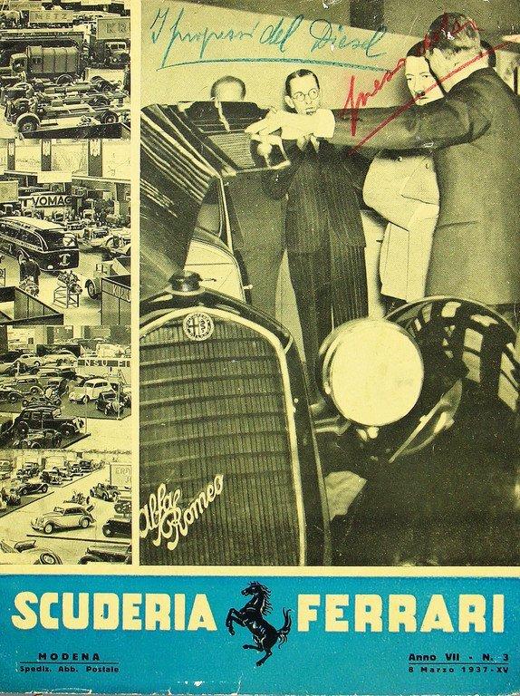 """FERRARI magazine """"La Scuderia Ferrari"""" Anno VII, No. 3,"""
