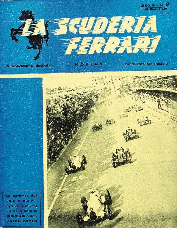"""FERRARI magazine """"La Scuderia Ferrari"""" Anno VI, No. 9,"""