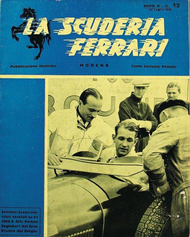 """FERRARI magazine """"La Scuderia Ferrari"""", Anno VI, No."""