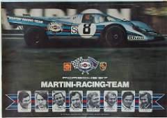 PORSCHE racing poster Porsche 917 Martini Racing team