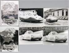 PORSCHE mixed lot of 6 factory photos Porsche type 64