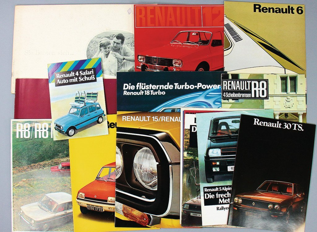 RENAULT '70s/'80s, mixed lot of 16 sales