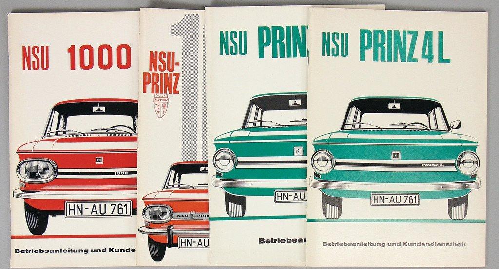 NSU 4x operating instruction NSU Prinz 4L/Prinz 1000