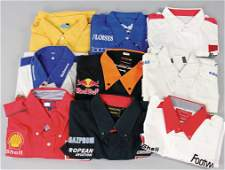 mixed lot racing team-shirts, among them Arrows/Red