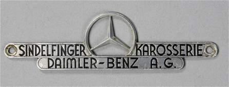 MERCEDES-BENZ AG coachwork emblem Sindelfinger car body