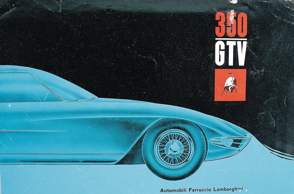 LAMBORGHINI Brochure 350 GTV, 8 pages, Italian text,