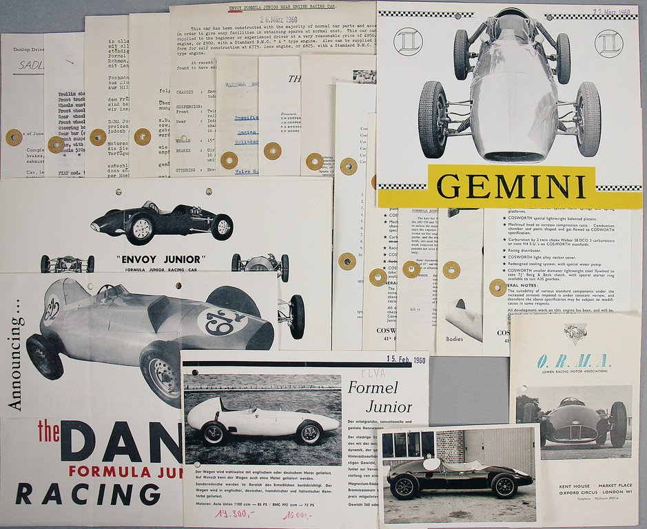 Mixed lot of 19 pieces, Formula Junior, among them the