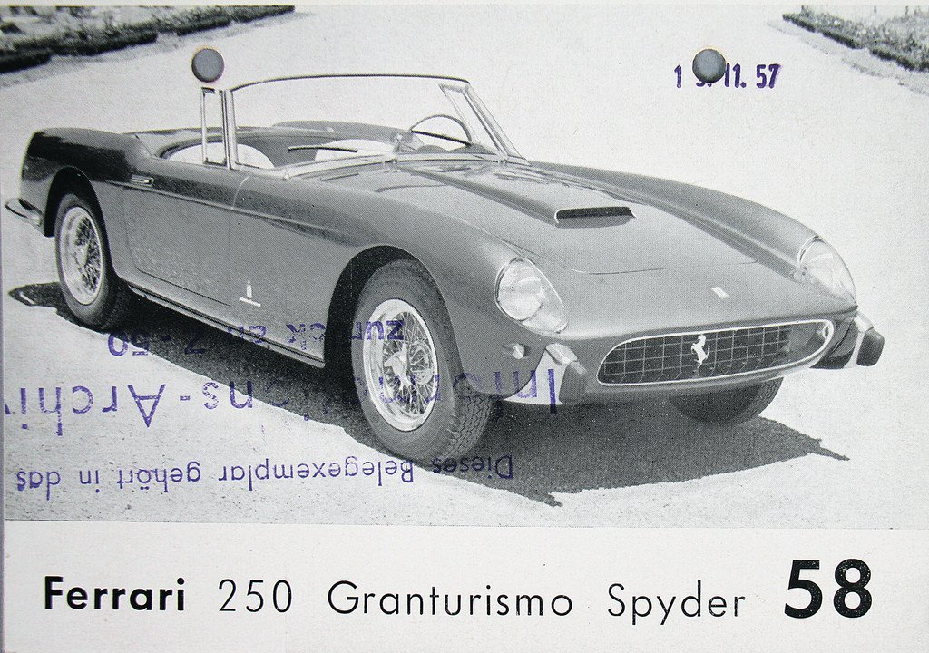 FERRARI 1957, fold-out brochure with 4 pages Ferrari