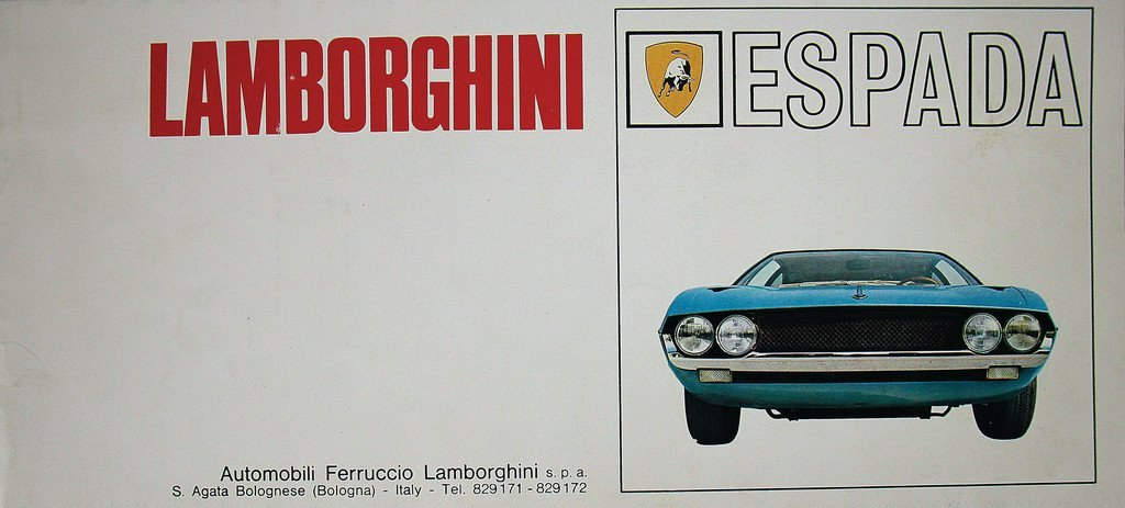 LAMBORGHINI Fold-out brochure Lamborghini Espada, 6