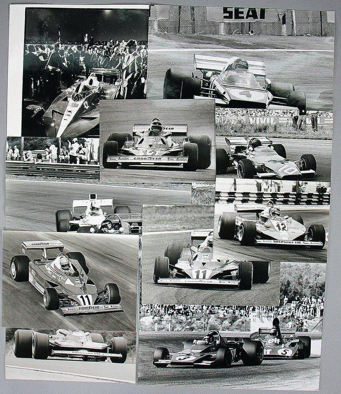 FERRARI Mixed lot of 10 original B/W photos, Ferrari