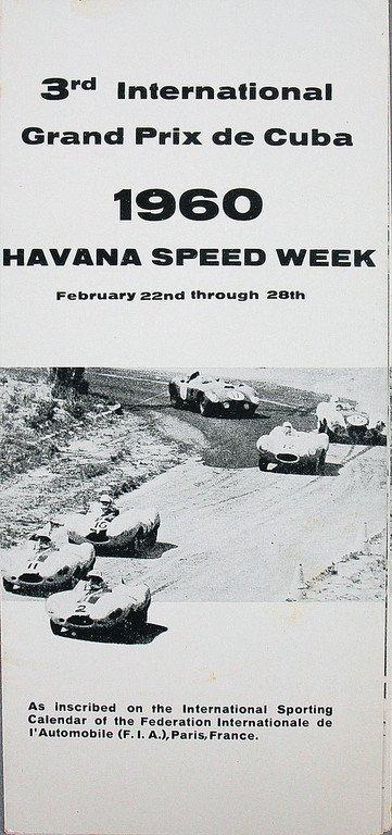 Fold-out brochure, 3rd International Grand Prix de Cuba