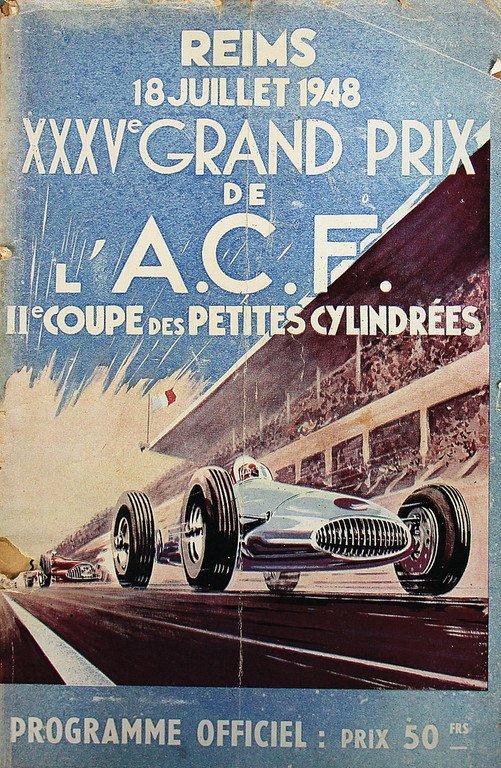 Racing programme Grand Prix de L'Acf 1948 Reims,