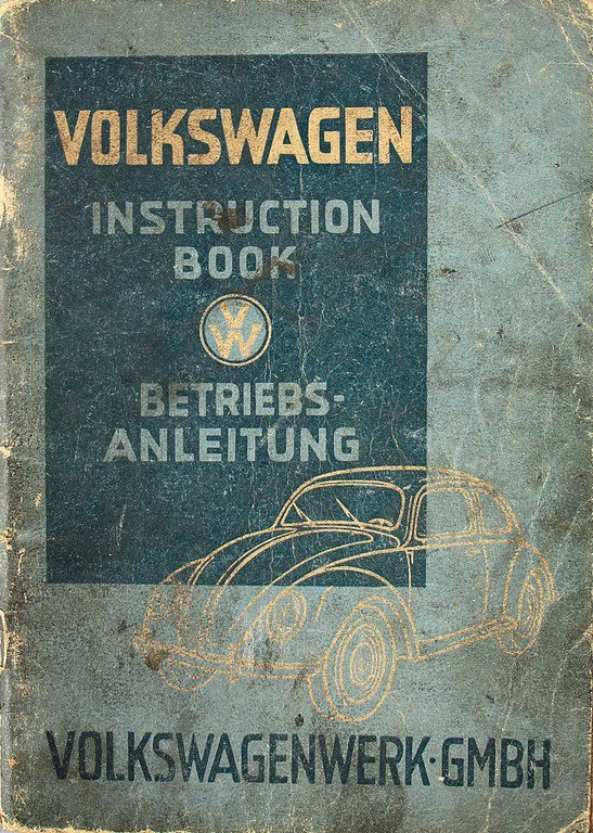 VOLKSWAGEN Operating instruction, edition March 1948,