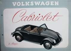VW 1950 sales brochure Hebmüller convertible 2L, 4