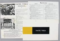 FACEL VEGA '60s, mixed lot of 3 pieces, No. 1: fold-out