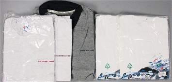 PORSCHE 5 T-Shirts and polo shirts, '90s, original