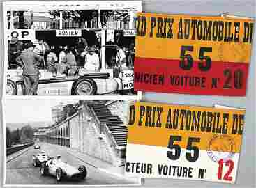 LOUIS ROSIER Grand Prix Pau 1955, original armband,