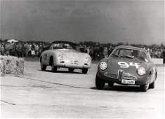 Original B/W photo airport race Vienna 1962, on it you