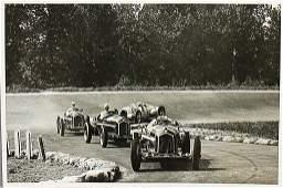 GRAND PRIX MONZA 1934 Original B/W photo, Girond, start
