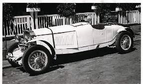 Original B/W press photo, Mercedes-Benz type SS from