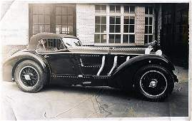 Original B/W press photo, Mercedes-Benz SSK Erdmann and