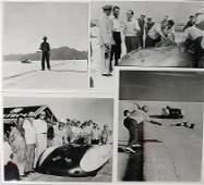 B.M.C./MG Mixed lot of 4 original B/W photos of record