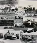 FERRARI Mixed lot of 11 original B/W photos Formula 1