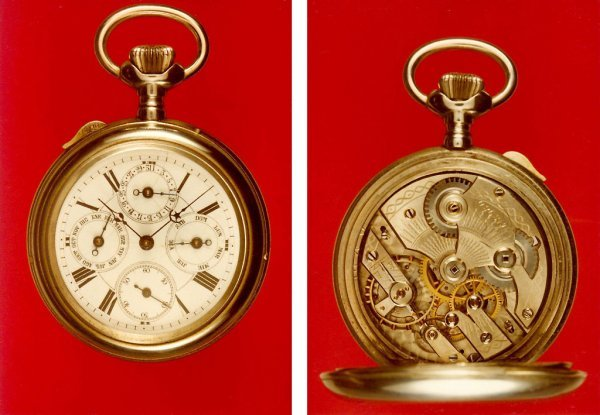 003: Pocket Watch, nickel case, triple date