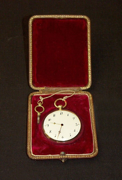 005: Very nice Pocket Watch, 18 ct red gold