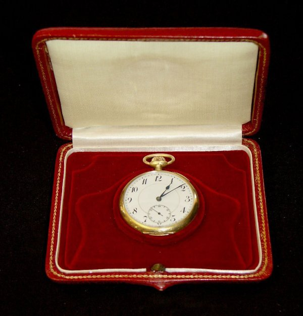 007: Very nice Pocket Watch, 18 ct gold