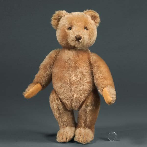 4: Original German Steiff Teddy Bear, light brown, full