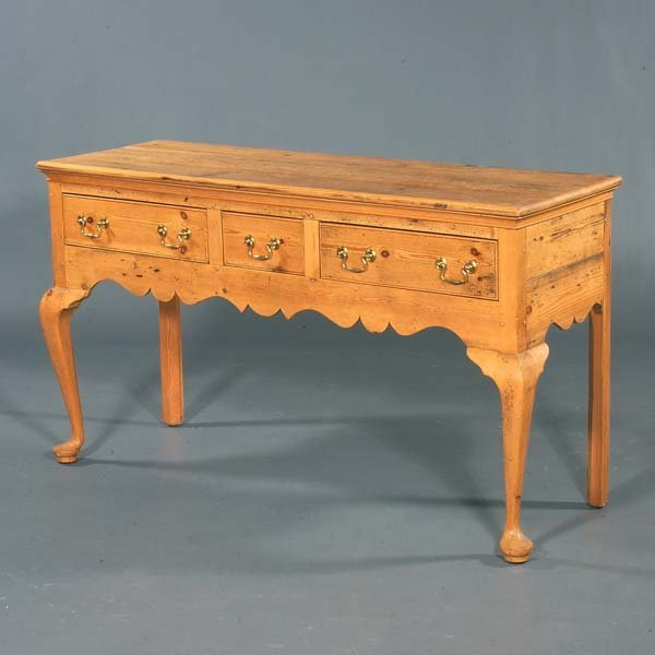 12: Reproduction English pine huntboard. Bench-made in