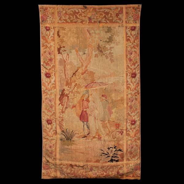 91: Late 18th, early 19th Century tapestry. Some repair