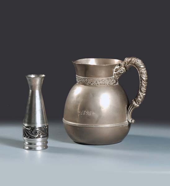 1: Early American Pewter. One water pitcher