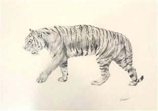 Norman Adams (American 1933-2014) Pencil Drawing