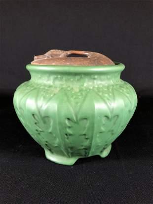 J.B. Owens Pottery Matte Green Jardiniere