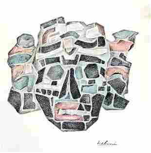 "Helmi Juvonen (American 1903-1985) ""Mosaic Mask"""