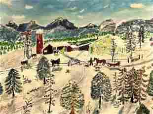 R.W.B. (Unknown Artist) Winter Village
