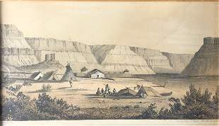 """John Mix Stanley (American 1814-1874) """"Old Fort Walla"""