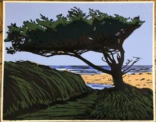 """Steve Nilson, American, """"Cannon Beach"""" Silk Screen"""