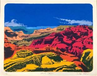 "Steve Nilson American ""Grand Canyon"" Silk Screen 11/19"