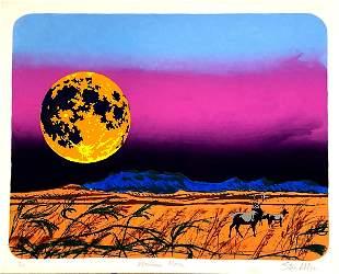 "Steve Nilson American ""Montana Moon"" Silk Screen 10/17"