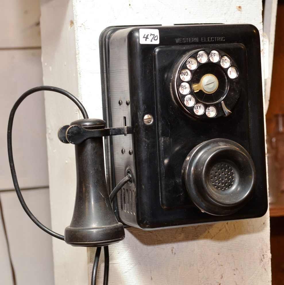 470 Western Electric 653 Ba Metal Case Wall Phone