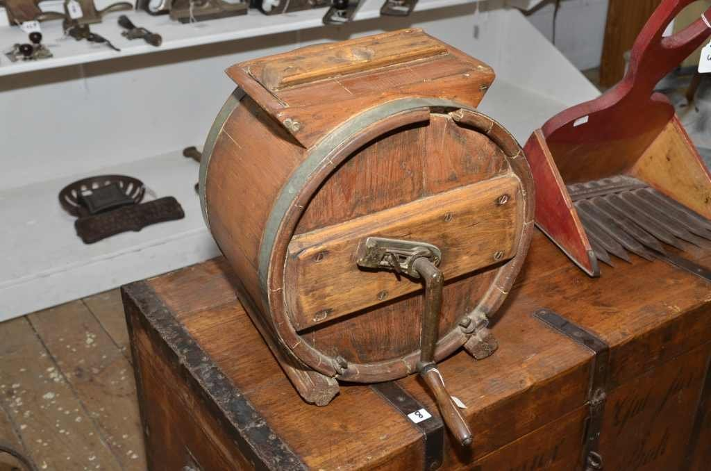 WOODEN BUTTER CHURN,
