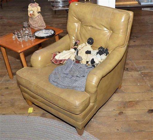 Groovy Schafer Bros Leather Chair W Lots Of Wear Machost Co Dining Chair Design Ideas Machostcouk