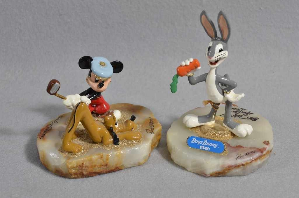 "(2) RON LEE LIMITED EDITION DISNEY FIGURINES, 6"" ""BUGS"