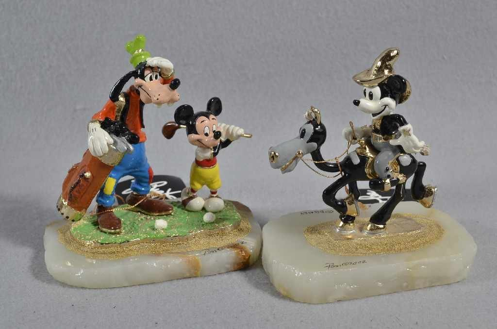 "(2) RON LEE LIMITED EDITION DISNEY FIGURINES, 6"" ""GOOFY"