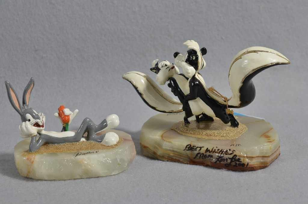 "(2) RON LEE LIMITED EDITION DISNEY FIGURINES, 3"" ""BUGS"