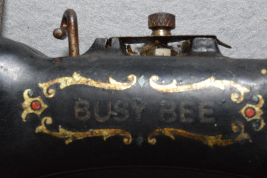 Antique Busy Bee Toy Sewing Machine - 2
