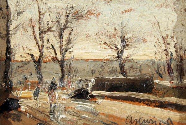 12: Asturi Antonio (( 1904 - 1980 )-Italian Painting